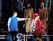 The Pearl Fishers <br /> music by Georges Bizet <br /> production by Penny Woolcock <br /> English National Opera, London Coliseum, London, Great Britain <br /> rehearsal <br /> 17th October 2016 <br /> <br /> Jacques Imbrailo as Zurga <br /> <br /> <br /> <br /> Claudia Boyle as Leila <br /> <br /> <br /> <br /> Photograph by Elliott Franks <br /> Image licensed to Elliott Franks Photography Services
