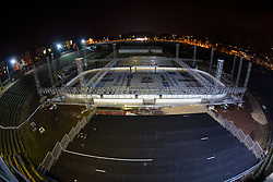 Preparing stadium Bezigrad for Winter Classic of HDD Olimpija Ice Fest 2013, on January 1, 2013 in Stadium Bezigrad, Ljubljana, Slovenia. (Photo By Matic Klansek Velej / Sportida.com)