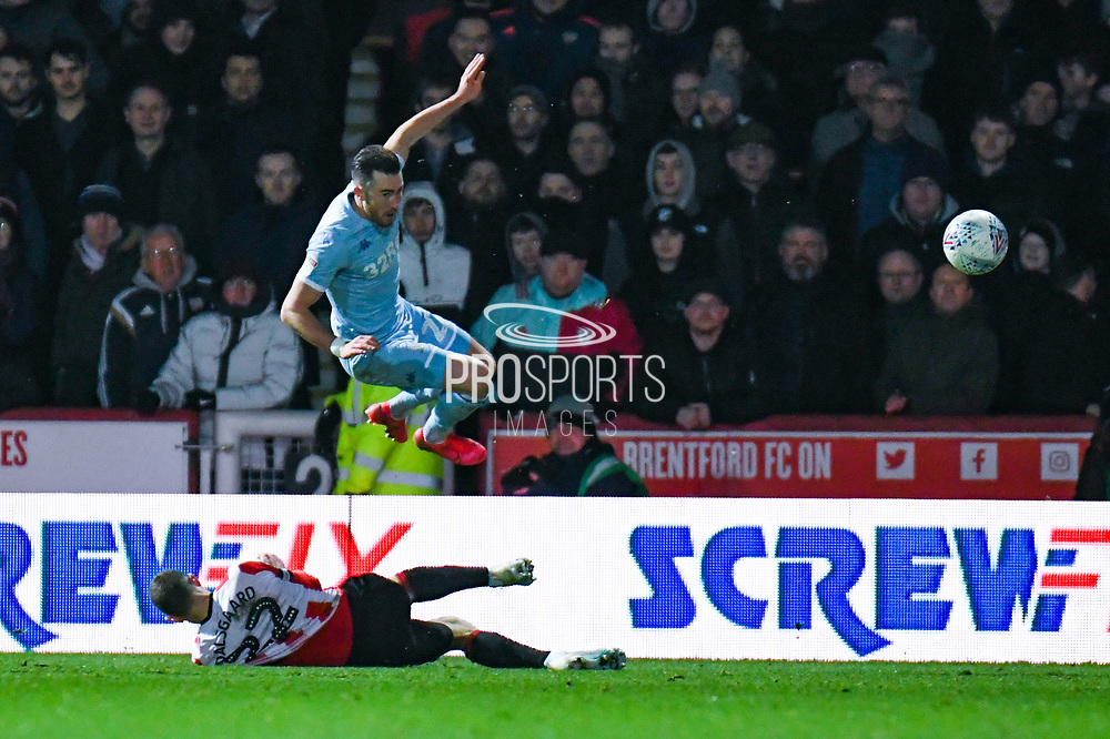 Leeds United midfielder Jack Harrison (22) during the EFL Sky Bet Championship match between Brentford and Leeds United at Griffin Park, London, England on 11 February 2020.