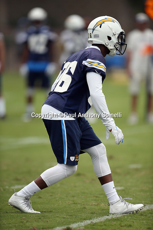 San Diego Chargers cornerback Casey Hayward (26) drops back in pass coverage during the Chargers 2016 NFL minicamp football practice held on Tuesday, June 14, 2016 in San Diego. (©Paul Anthony Spinelli)