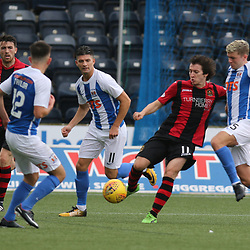 Chris Johnston  clears  during the Kilmarnock v Dumbarton Betfred Cup Group E  29nd July 2017 <br /> <br /> <br /> <br /> <br /> (c) Andy Scott | SportPix.org.uk