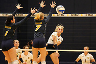 October 31, 2018 - Johnson City, Tennessee - Brooks Gym: ETSU middle blocker Braedyn Tutton (17)<br /> <br /> Image Credit: Dakota Hamilton/ETSU
