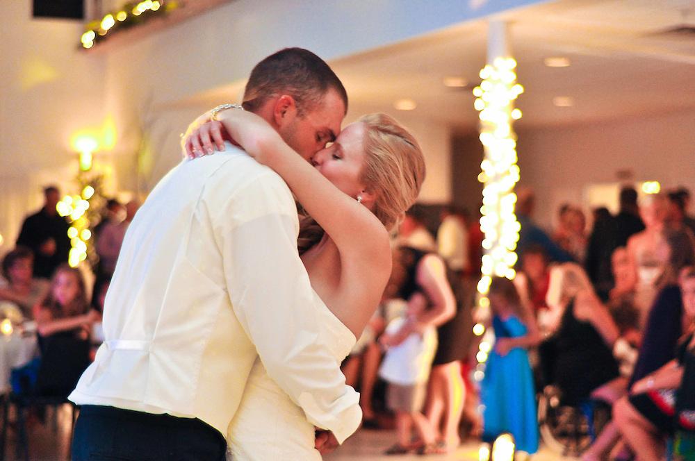 Abby & Matt share their first dance at White House Banquet Hall, Richland Center, WI
