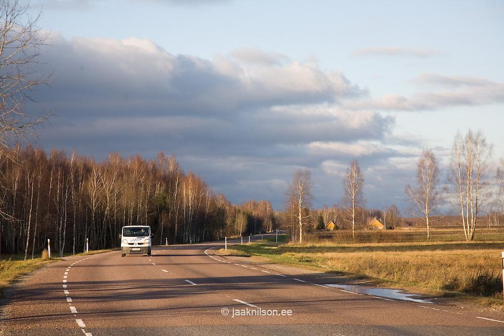 Highway in Tartu County, Estonia