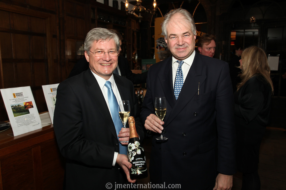 Herve? Deschamps (Perrier-Jouet) and Simon Berry (Berry Brothers & Rudd)