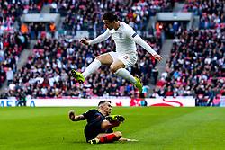 Ben Chilwell of England is tackled by Ivan Perisic of Croatia - Mandatory by-line: Robbie Stephenson/JMP - 18/11/2018 - FOOTBALL - Wembley Stadium - London, United Kingdom - England v Croatia - UEFA Nations League