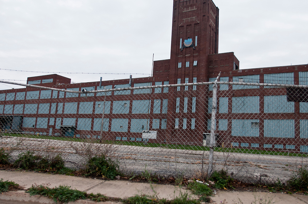 Lathan Goumas | The Bay City Times..The former Prestolite factory in Bay City at the corner of Morton and Backus.