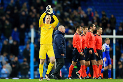 Joe Hart of Manchester City celebrates at full time - Mandatory byline: Matt McNulty/JMP - 15/03/2016 - FOOTBALL - Etihad Stadium - Manchester, England - Manchester City v Dynamo Kyiv - Champions League - Round of 16