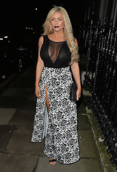 Nicola McLean arriving at Boujis night club in Kensington, London, UK. 26/11/2015<br /> BYLINE MUST READ : GOTCHAIMAGES.COM<br /> <br /> Copyright by © Gotcha Images Ltd. All rights reserved.<br /> Usage of this image is conditional upon the acceptance <br /> of Gotcha Images Ltd, terms and conditions available at<br /> www.gotchaimages.com