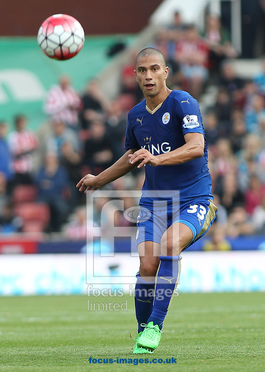 Gokhan Inler of Leicester City in action against Stoke City during the Barclays Premier League match at the Britannia Stadium, Stoke-on-Trent.<br /> Picture by Michael Sedgwick/Focus Images Ltd +44 7900 363072<br /> 19/09/2015