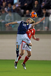EDINBURGH, SCOTLAND - Tuesday, November 1, 2016: Scotland's Billy Gilmour in action against Wales during the Under-16 2016 Victory Shield match at ORIAM. (Pic by David Rawcliffe/Propaganda)