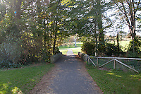 Empty path in Cabinteely Park Dublin Ireland