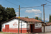 A Mexican bar in the tiny village of Santa Ana Chapitiro, Michoacan, Mexico.