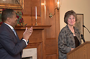 16950New Provost Kathy Krendl Press Conference 4/21/05..President McDavis & Provost Kathy Krendl