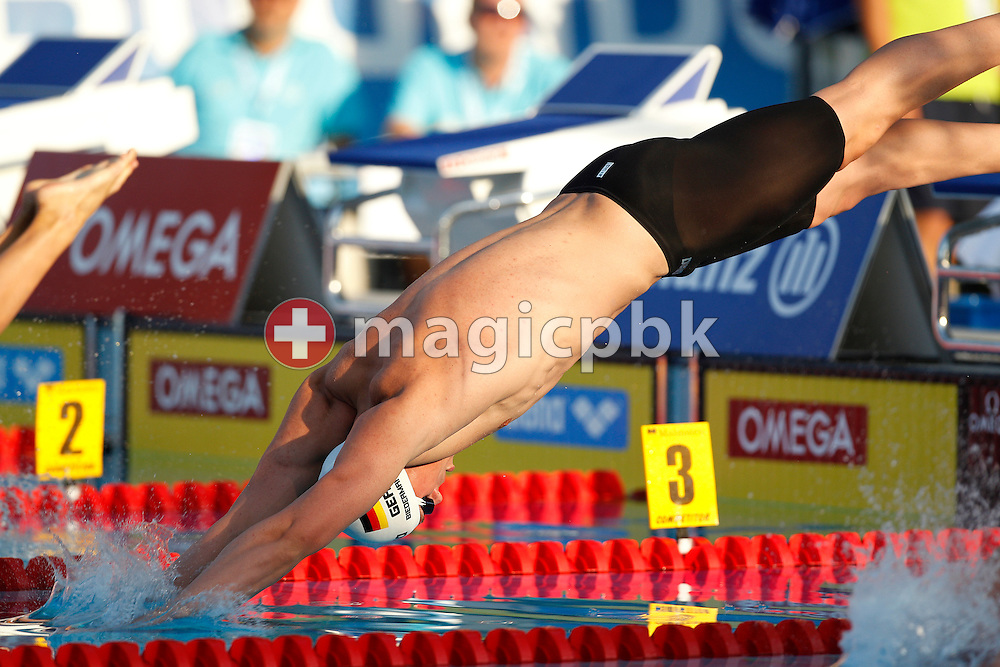 Paul BIEDERMANN of Germany starts in the men's 200m Freestyle Semifinal 2 at the European Swimming Championship at the Hajos Alfred Swimming complex in Budapest, Hungary, Tuesday, Aug. 10, 2010. (Photo by Patrick B. Kraemer / MAGICPBK)