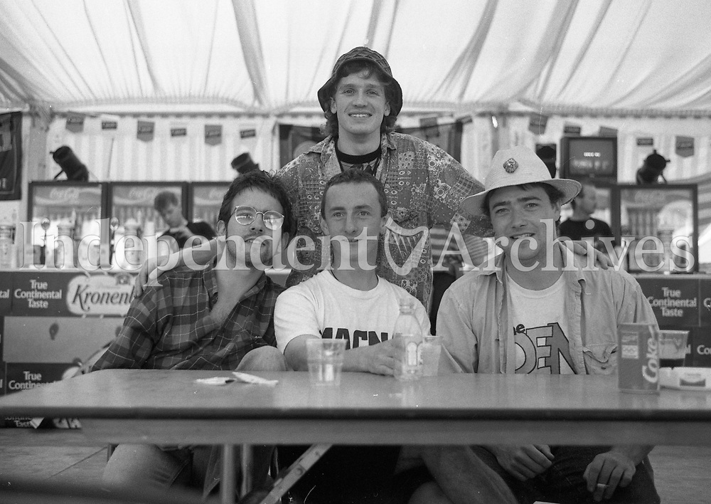 Fans enjoying the Feile Festival in Thurles, Tipperary, 02/08/1992 (Part of the Independent Newspapers Ireland/NLI Collection).
