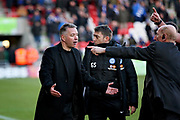 Peterborough Utd Manager Darren Ferguson remonstrating with the ref during the EFL Sky Bet League 1 match between Doncaster Rovers and Peterborough United at the Keepmoat Stadium, Doncaster, England on 9 February 2019.
