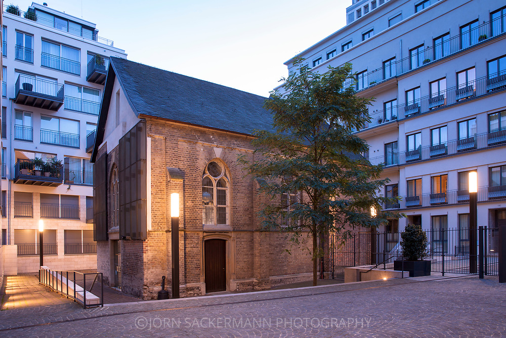 the former monastery chapel St. Joseph in the Frisenviertel quarter, today a art gallery, Cologne, Germany.<br /> <br /> die ehemalige Klosterkapelle St. Joseph im Friedenviertel, heute eine Galerie, Koeln, Deutschland.