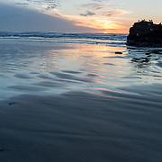 Sunset on Arcadia Beach. Oregon.