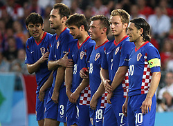 Croatian team during the UEFA EURO 2008 Quarter-Final soccer match between Croatia and Turkey at Ernst-Happel Stadium, on June 20,2008, in Wien, Austria. Turkey won after penalty shots. (Photo by Vid Ponikvar / Sportal Images)