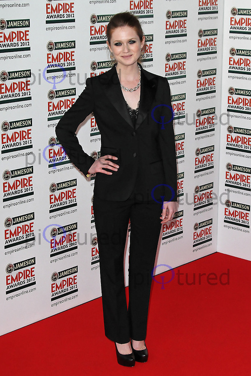LONDON - MARCH 25: Bonnie Wright attends the Jameson Empire Awards 2012 at the Grosvenor House Hotel, London, UK. March 25, 2012. (Photo by Richard Goldschmidt)