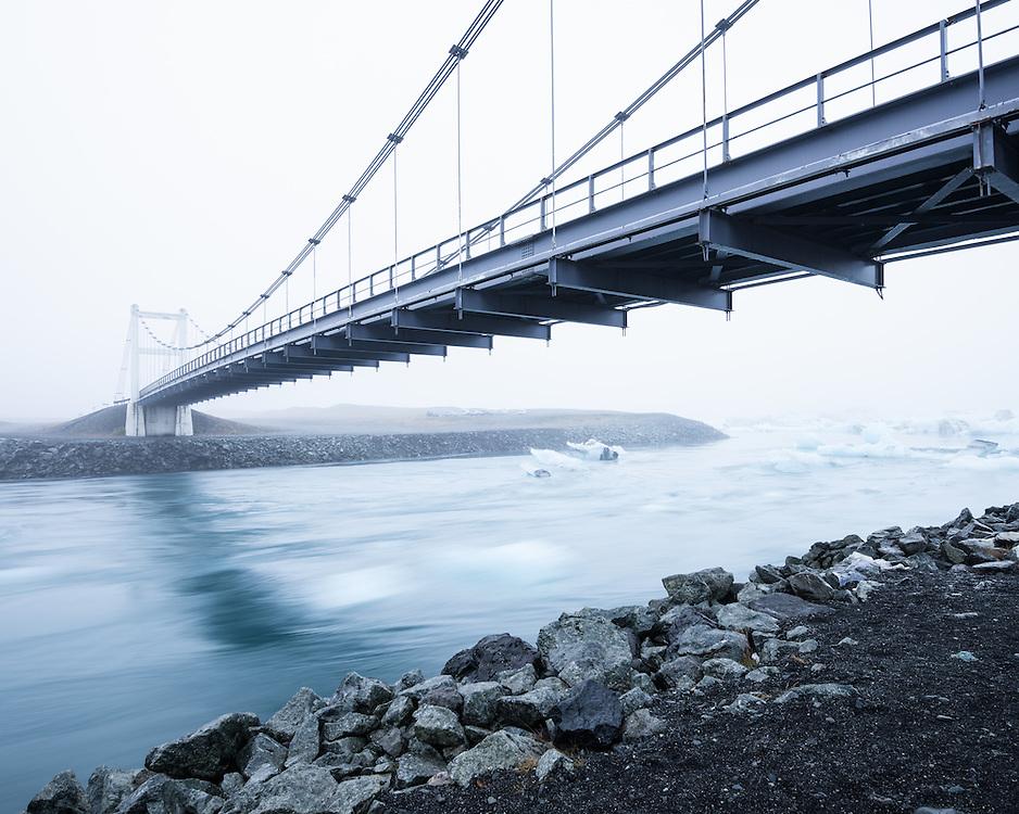 Bridge, Jokulsarlon, Iceland