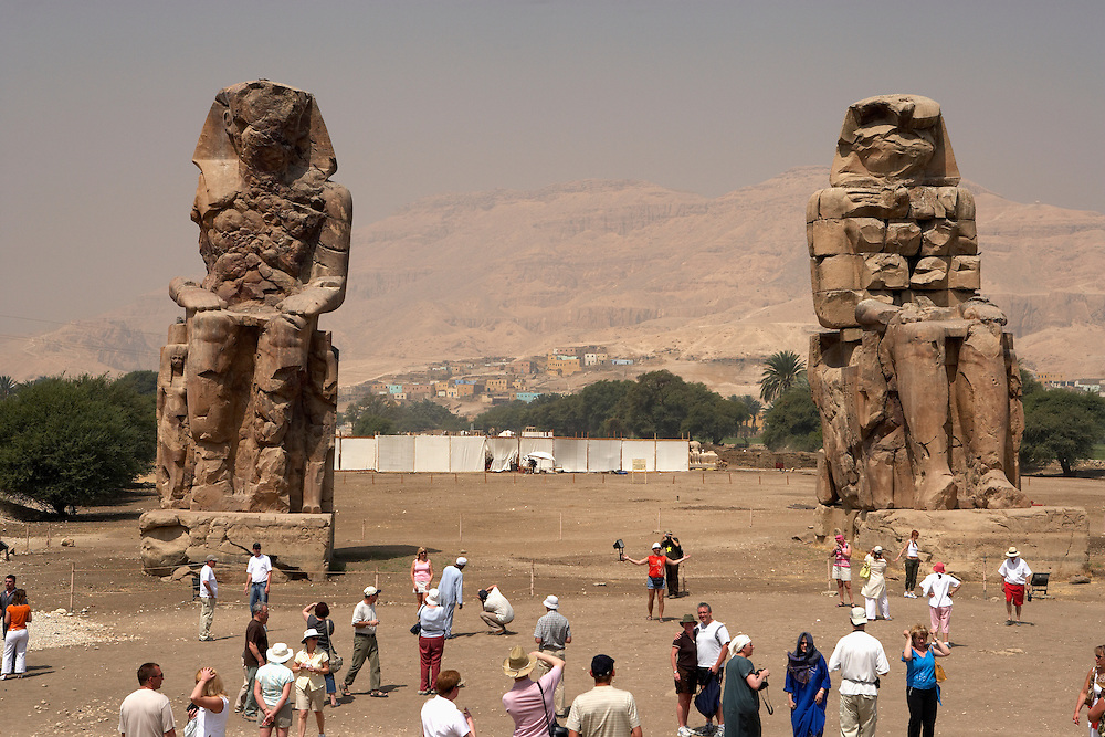 Colossi of Memnon.West Bank.Thebes, Egypt
