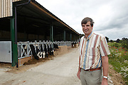 30th June 2014<br /> Colin Dennis and the new cattle sheds, Bishop Burton College, East Yorkshire.