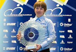 Best MTB Rider Tanja Zakelj during the Slovenia's Cyclist of the year award ceremony by Slovenian Cycling Federation KZS, on December 11, 2010 in Hotel Mons, Ljubljana, Slovenia. (Photo By Vid Ponikvar / Sportida.com)