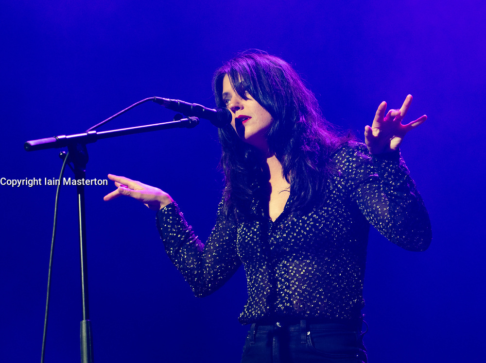 Edinburgh, Scotland, UK. 21 August 2019. Sharon Van Etten plays a  concert at Leith Theatre as part of Edinburgh International Festival. Iain Masterton/Alamy Live News.