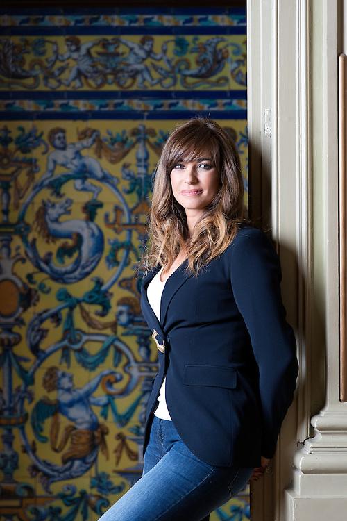 Marilo Montero, periodista y presentadora de la Ma&ntilde;ana de TV1 en el restaurante La Redacci&oacute;n de Pedro Larumbe.<br /> Centro Comercial ABC de Serrano, Madrid.
