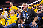 Golden State Warriors fans react to questionable calls during Game 5 of the NBA Finals against the Cleveland Cavaliers at Oracle Arena in Oakland, Calif., on June 12, 2017. (Stan Olszewski/Special to S.F. Examiner)