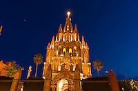 Church of St. Michael the Archangel ( La Parroquio de San Miguel Arcangel), San Miguel de Allende, Guanajuato state, Mexico