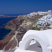 The cliff-side city of Oia, one of the most picturesque places in the Cyclades