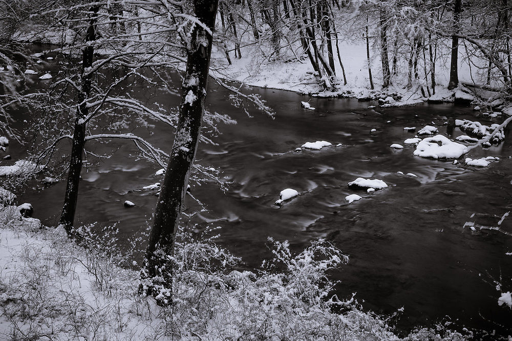 Spring snow on the Patapsco River. #2