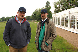 Left to right, HARRY PATON-SMITH and ALEX GARTON at a charity shoot in aid of the charity Save The Rhino held at the West London Shooting School, Northolt, Middlesex on 30th May 2008.<br />