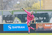Forest Green Rovers goalkeeper Lewis Ward(34) during the EFL Sky Bet League 2 match between Forest Green Rovers and Macclesfield Town at the New Lawn, Forest Green, United Kingdom on 13 April 2019.