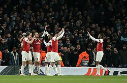 Aaron Ramsey of Arsenal celebrates scoring to make it 1-0 - Mandatory by-line: Arron Gent/JMP - 11/04/2019 - FOOTBALL - Emirates Stadium - London, England - Arsenal v Napoli - UEFA Europa League Quarter Final 1st Leg