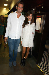 FRITZ VON WESTENHOLZ and CAROLINE SIEBER at the opening party of the new Frankie's Bar & Grill at Selfridges, Oxford Street, London on 6th September 2006.<br />