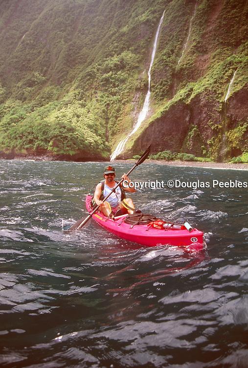 Kayaking, North Shore, Molokai, Hawaii