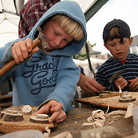 Finian and Lucas were busy at the Scariff Harbour Festival at the weekend.<br /> Photograph by Yvonne Vaughan