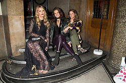 Left to right, LADY KITTY SPENCER, LADY JEMIMA HERBERT and LADY KATIE HERBERT at the Veuve Clicquot Widow Series launch party hosted by Nick Knight and Jo Thornton MD Moet Hennessy UK held at The College, Central St.Martins, 12-42 Southampton Row, London on 29th October 2015.