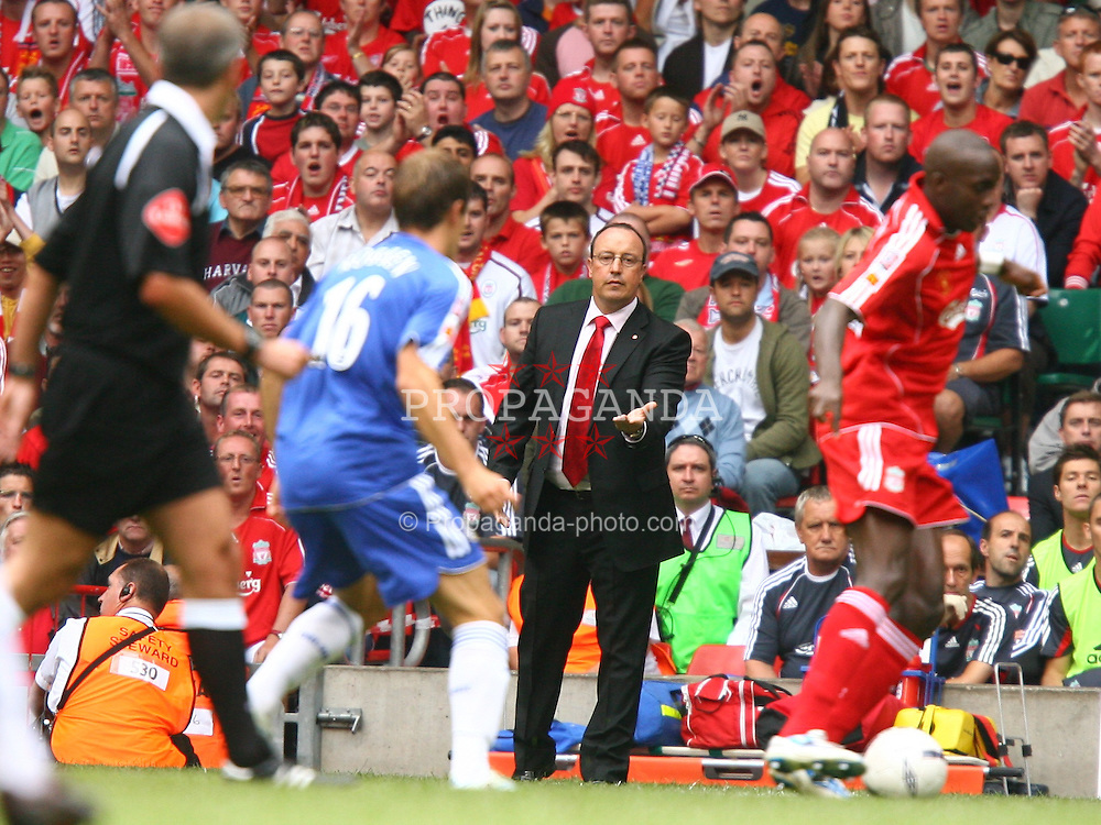 CARDIFF, WALES - SUNDAY, AUGUST 13th, 2006: Liverpool's manager Rafael Benitez during the Community Shield match against Chelsea at the Millennium Stadium. (Pic by David Rawcliffe/Propaganda)