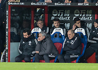 Football - 2017 / 2018 Premier League - Crystal Palace vs. Manchester United<br /> <br /> A less than impressed Jose Mourinho, Manager of Manchester United, looks on at his team at Selhurst Park.<br /> <br /> COLORSPORT/DANIEL BEARHAM