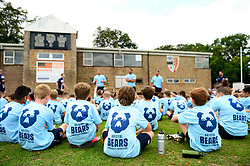 Jack Lam, Chris Vui and Ian Madigan answer questions at Bristol Bears Community Foundation Summer Holiday Camp at Old Bristolians RFC - Mandatory by-line: Dougie Allward/JMP - 15/08/2018 - Rugby