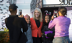 United States President Donald J. Trump and First Lady Melania Trump give out treats during a Halloween event at The White House in Washington, DC, October 30, 2017. 30 Oct 2017 Pictured: White House advisor Kellyanne Conway poses for photos during a Halloween event at The White House in Washington, DC, October 30, 2017. Credit: Chris Kleponis / CNP. Photo credit: Chris Kleponis - CNP / MEGA TheMegaAgency.com +1 888 505 6342