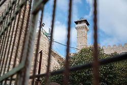 2 March 2020, Hebron: The Tomb of the Patriarchs, known to the Muslims as Al-Ibrahimi Mosque and the Jews as Cave of Machpelah, which has been divided by Israeli authorities into part mosque, part synagogue. The site is known as the site for the Hebron massacre in 1994, in which an Israeli settler killed 29 Muslims.