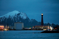 NORWAY ANDENES 8DEC15 - General view of the lighthouse in the harbour of Andenes, Vesteralen, Norway.<br /> <br /> jre/Photo by Jiri Rezac / Greenpeace<br /> <br /> © Jiri Rezac 2015