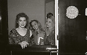 People at the DJ booth, The Haçienda, Manchester, 1989