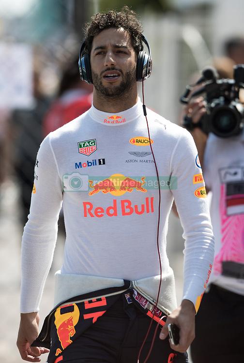 May 27, 2017 - Monte-Carlo, Monaco - Daniel Ricciardo of Australia and Red Bull Racing driver arrive to the qualification on Formula 1 Grand Prix de Monaco on May 27, 2017 in Monte Carlo, Monaco. (Credit Image: © Robert Szaniszlo/NurPhoto via ZUMA Press)